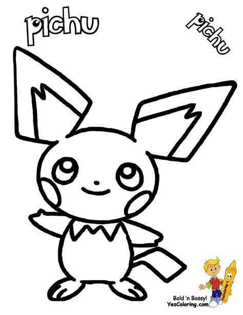 pokemon coloring pages pichu free coloring pages of pichu pokemon