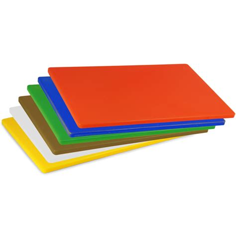 Colour Coded Chopping Board Set LDPE 1/2inch   Drinkstuff