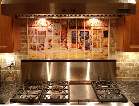 Italian Kitchen Backsplash Custom Kitchen Backsplash Ideas Tuscan Decor Italian Tile Murals Tuscan Kitchen