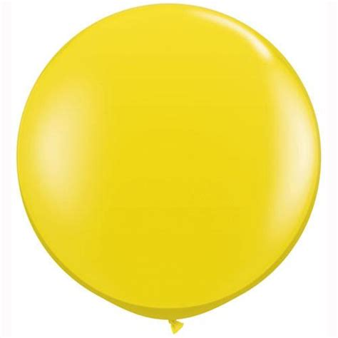 Big perfectly round balloon yellow big balloons qualatex uk pretty little party shop