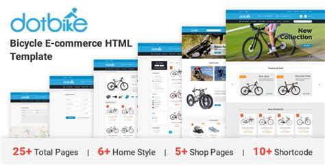 Dotbike Bicycle E Commerce Html Template By Dot Themes Themeforest Bike Shop Website Template