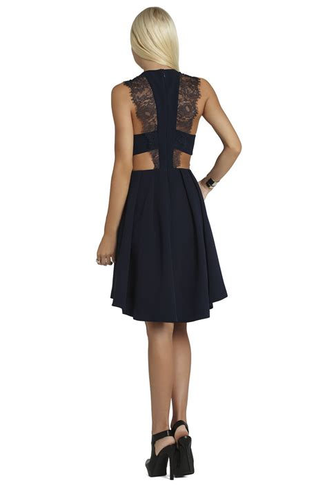lace trim pleated skirt dress