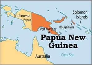 New Guinea On World Map by Papua Neuguinea Kapital Karte