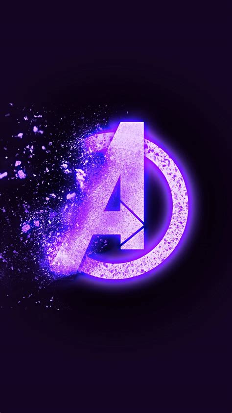 avengers endgame dust logo iphone wallpaper iphone