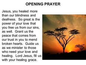 opening prayer opening prayer come holy spirit fill the hearts of your