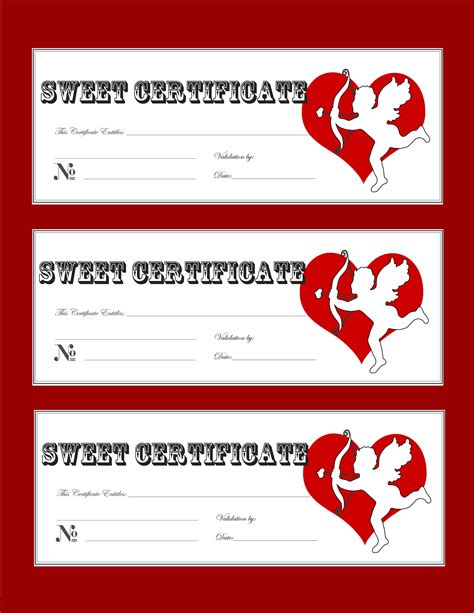 printable gift certificate for husband free printable valentines day love coupons gift