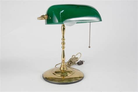 green desk l shade brass banker style desk l with green glass shade