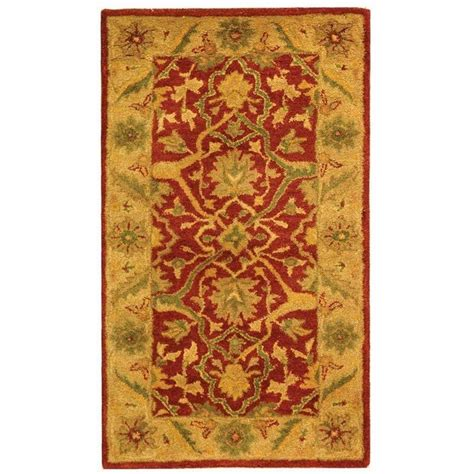 3 x 4 area rug safavieh antiquity rust 2 ft 3 in x 4 ft area rug at14c 24 the home depot