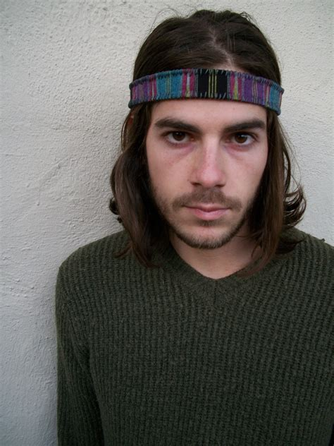 headbands for men with long hair male long hair headband men s hairstyles headbands for