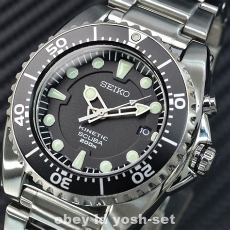 seiko dive watches seiko prospex sbcz011 kinetic 200m scuba dive from