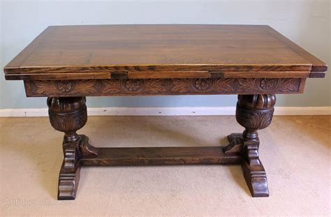 antique oak dining table oak refectory draw leaf farmhouse dining table antiques