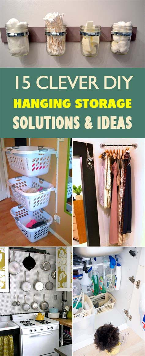 clever corner diy solutions 15 clever diy hanging storage solutions and ideas
