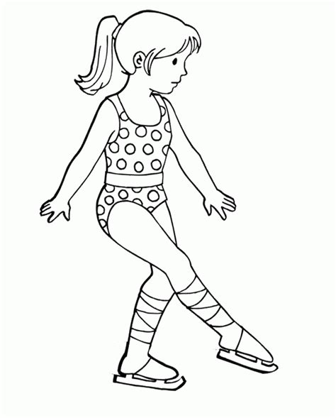 ice skater coloring page coloring home