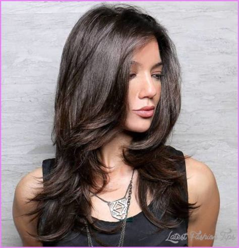 thick hair models layered haircuts for girls with thick hair