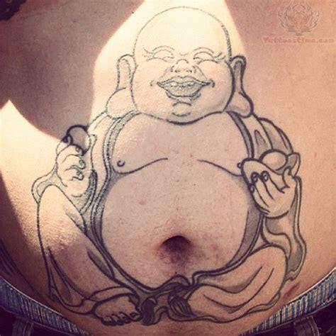 fat buddha tattoo on stomach tattoo