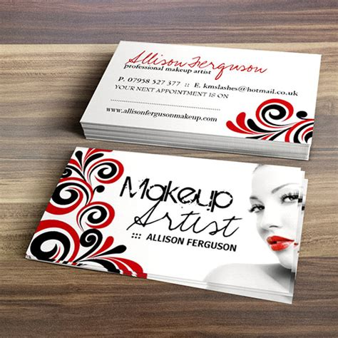 makeup artist business card template 300 creative and inspiring business card designs