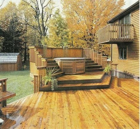 this would be awesome hot tub with semi privacy fence decks porches pinterest hot tub