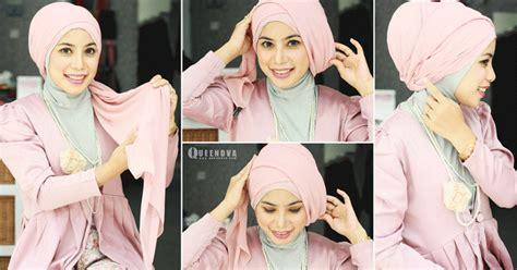 tutorial jilbab segi empat ala zoya kreasi jilbab turban segi empat untuk pesta ala dian pelangi