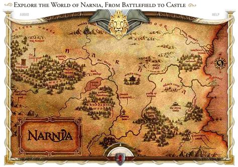 Map Of The World Wall Mural interactive narnia map now available narniaweb