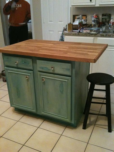 distressed island kitchen distressed turquoise kitchen island decorating neat