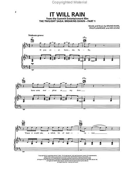 download mp3 song bruno mars it will rain partitions bruno mars it will rain piano voix
