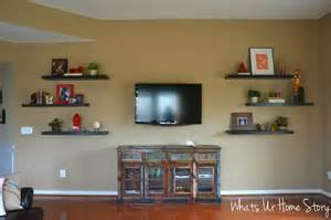 shelves around tv how to decorate around a tv with floating shelves whats