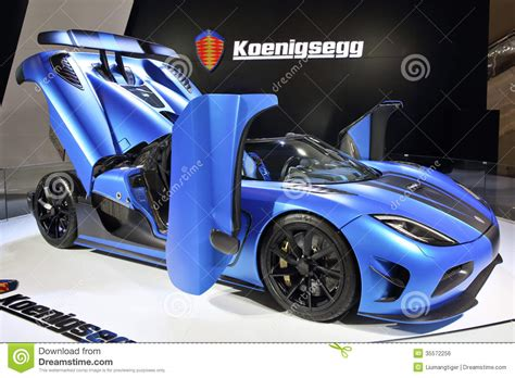 koenigsegg car blue koenigsegg agera r editorial photo image 35572256