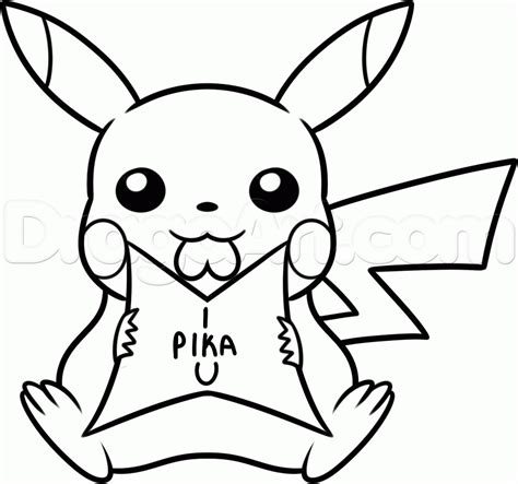 drawing valentines how to draw pikachu step by step valentines