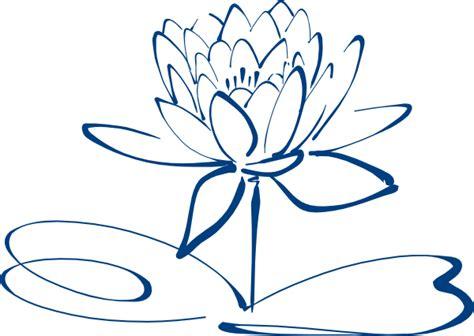 outline of lotus flower lotus flower outline blue clip at clker vector