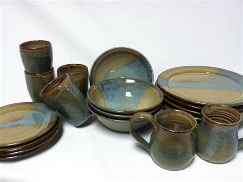 Handmade Pottery Dinnerware Sets - 12 best images about dinnerware place settings on