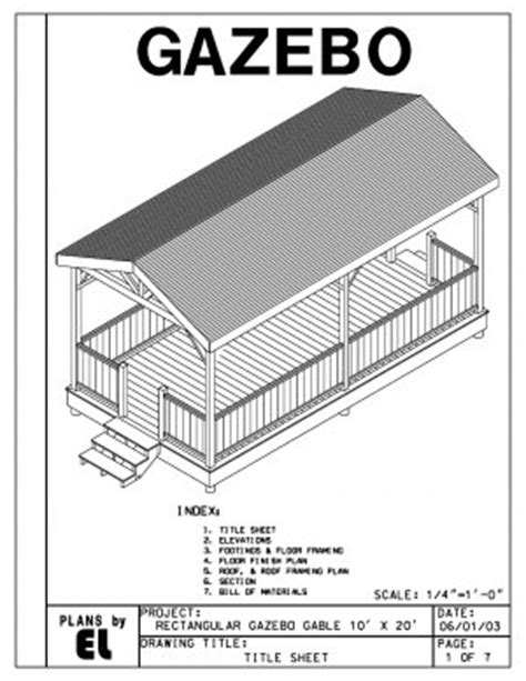 How To Build A 4 Sided Roof 4 Sided Rectangular Gazebo With Gable Roof Building Plans