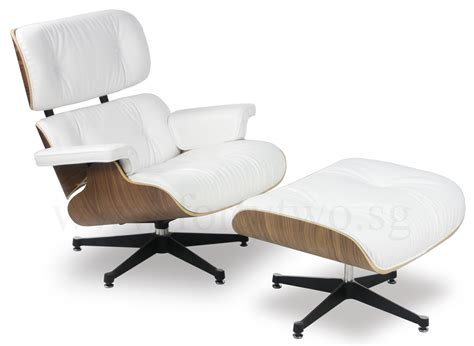 Replica Eames Lounge Chair by Designer Replica Eames Lounge Chair White Furniture