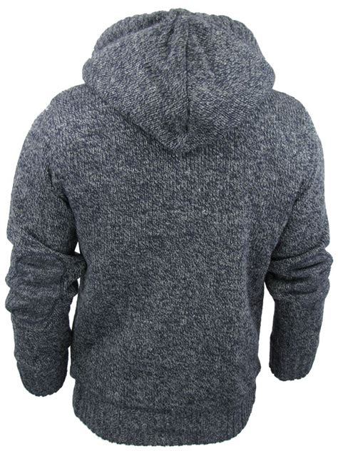 knit hoodie mens tokyo laundry cable knit hoodie jumper cardigan
