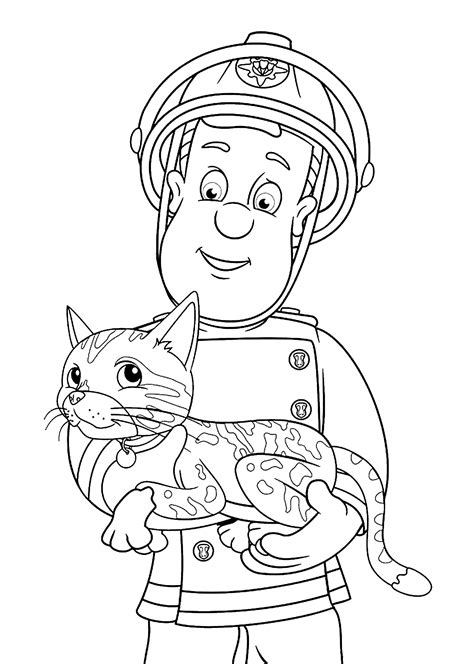 fireman sam coloring pages to download and print for free