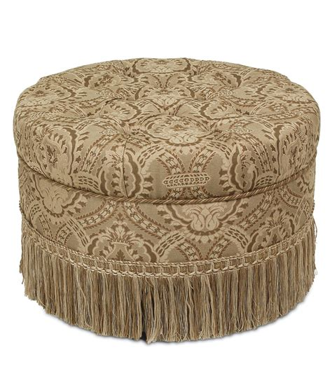 tufted ottoman with fringe luxury bedding by eastern accents nottingham ottoman