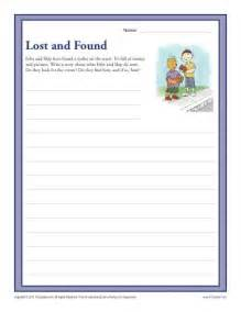 lost and found 3rd and 4th grade writing prompt worksheet