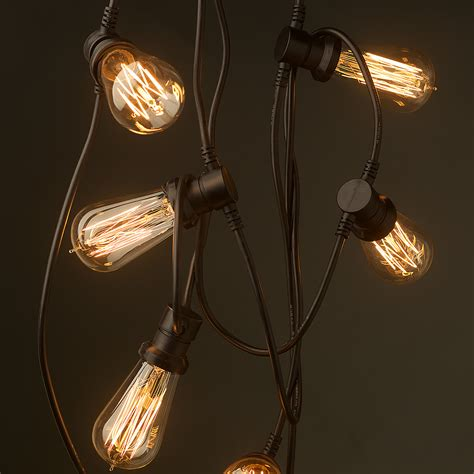 led edison string lights vintage edison 10 bulb lighting 240v