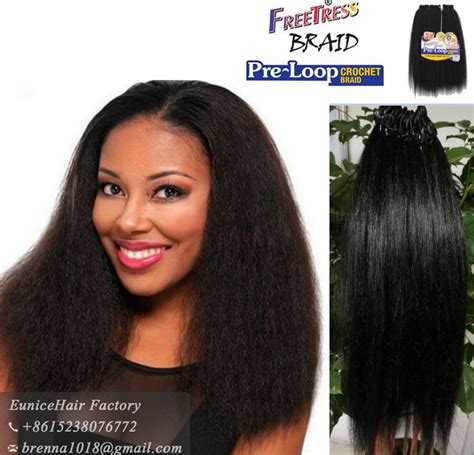 crochet hair straight freetress pre loop crochet braids yaky straight freetress