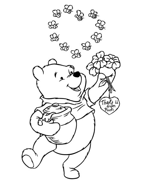 coloring pages winnie the pooh classic coloring home