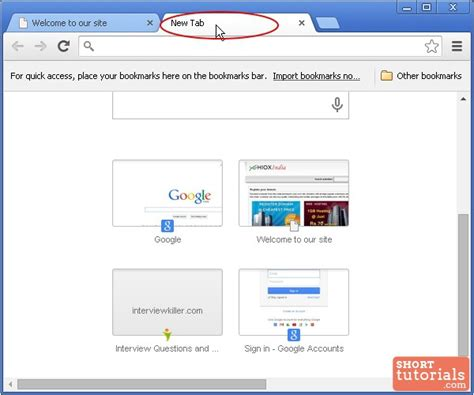 chrome new tab how to open new tab in google chrome browser