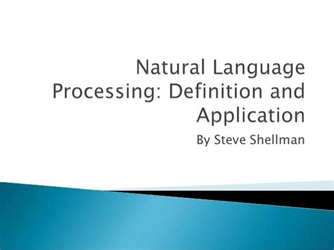 language processing definition and application