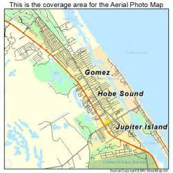 aerial photography map of hobe sound fl florida