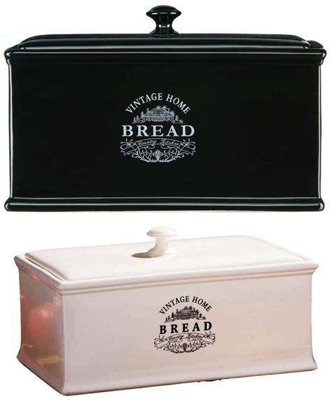 Kitchen Utensil Canister vintage home kitchen loaf bread box ceramic cream bin