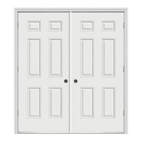 Shop Prosteel 62 In X 80 75 In 6 Panel Prehung Outswing 6 Panel Steel Exterior Door