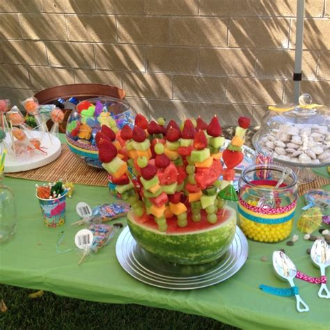 fruit bouquet luau baby shower nobody puts baby s in the