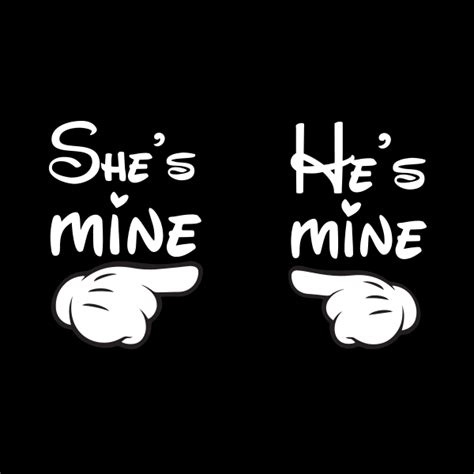 for couples t shirts she s mine he s mine komplet
