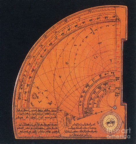 islamic quadrant astrolabe 14th century photograph by