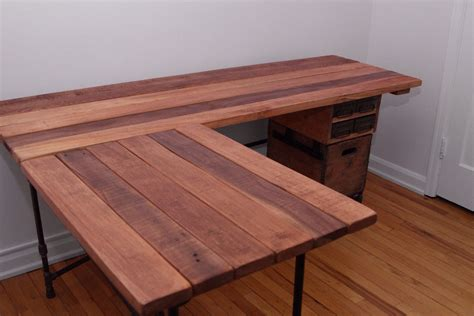 reclaimed wood l shaped desk wood computer desk woodworking projects