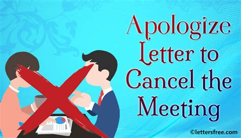 Apology Letter Rescheduling Event sle format for apology letter to cancel the meeting