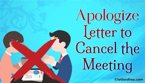 Apology Letter Postpone Meeting sle format for apology letter to cancel the meeting